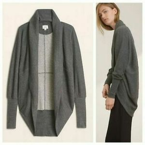 Aritzia Wilfred Diderot Gray Open Front Cardigan